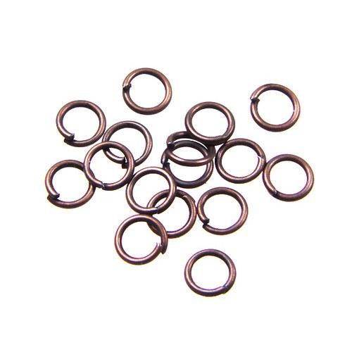 Staroměděné spojovací kroužky 5 mm, 100 ks