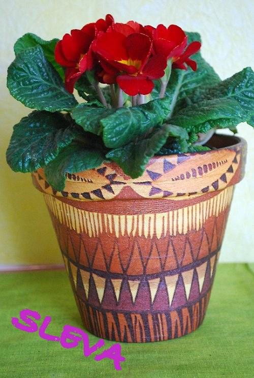 SLEVA Květináč paní Africké...