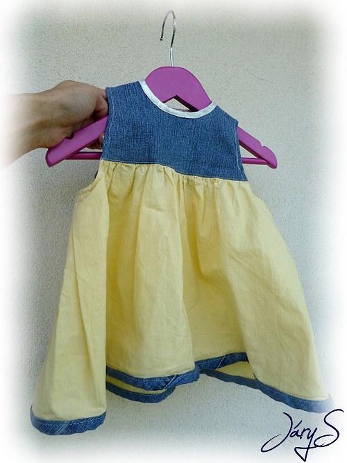 Džínové šaty  vel.62-68