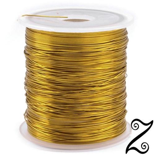 Drátek, 0,3 mm, zlatá (10m)