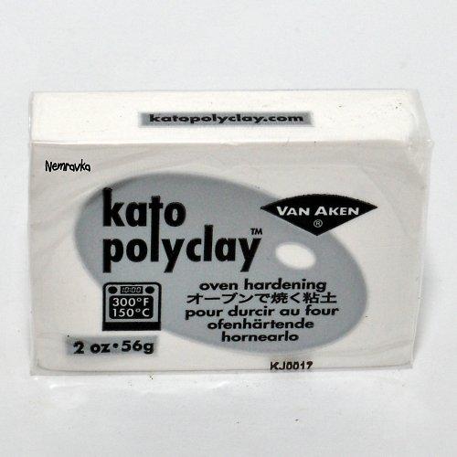Kato Polyclay / profi polymerová hmota / Bílá