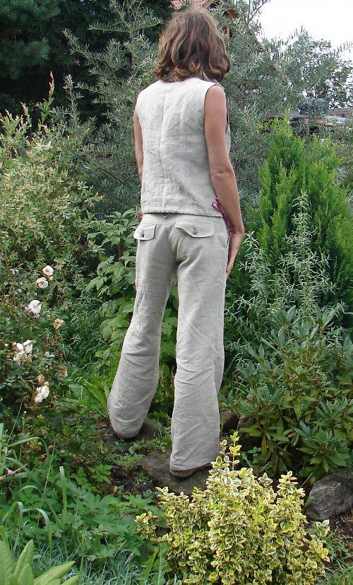 Lněné kalhoty LUNA nature