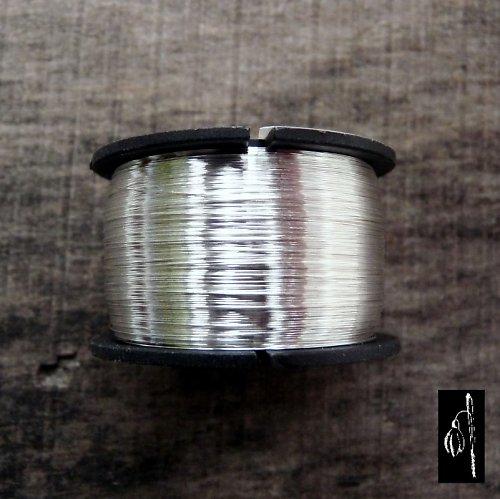 Postříbřený drát 0,8, cívka 13 m