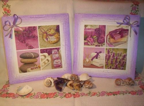 Levandulové pexeso - dvojice obrázků