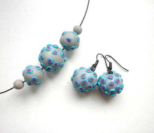 Dots - náušnice+náhrdelník