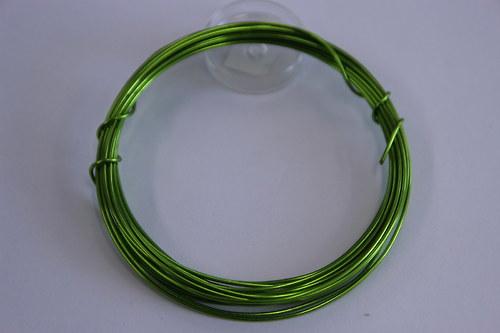 Měděný drátek 1mm - pistácie, návin 3,8-4m