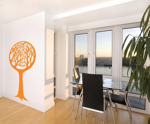 Kulatý strom - samolepka na zeď