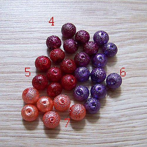 vroubkované voskové perly/ oranžová č.7/ 8mm/ 10ks