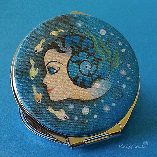 Kosmetické zrcátko - Podmořské