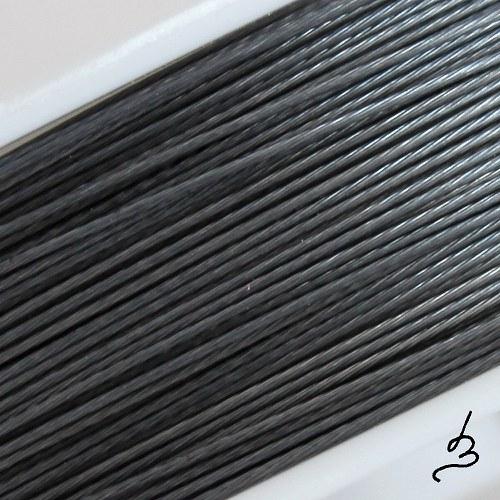 Ocelové lanko antracitové 0,38
