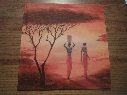 Ubrousek na decoupage - africké ženy