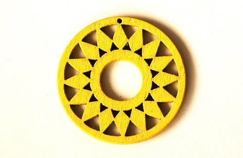 dřevěná kolečka- žlutá