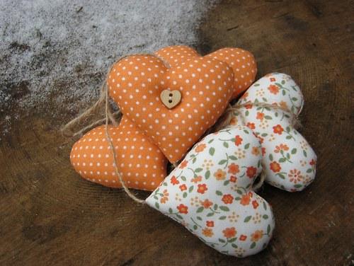 Girlanda....svěží oranžová