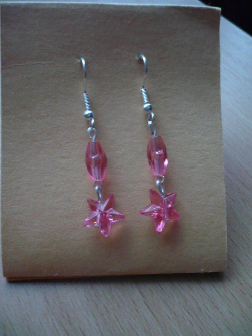 Náušnice-růžové