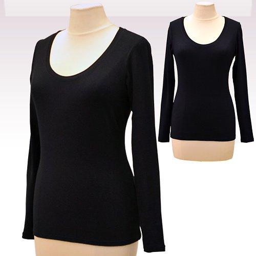 Černé tričko belaroma dlouhý rukáv, kulatý výstřih