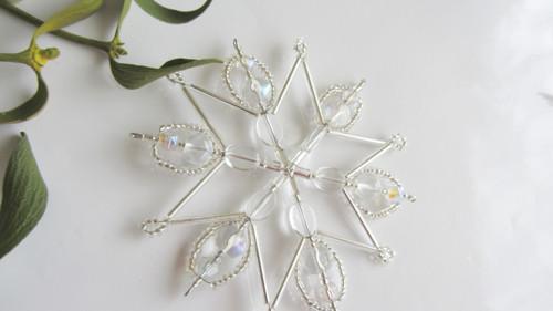 Vánoční ledové hvězdičky