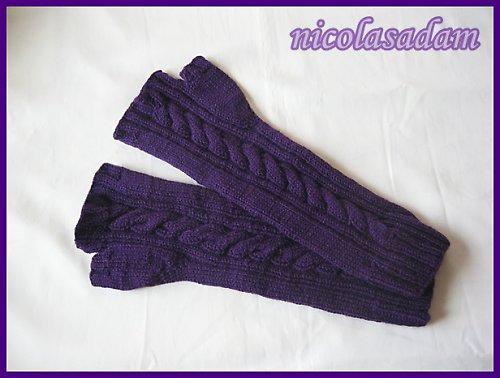 Bezprsťáky sexy fialové