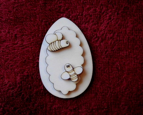 3D zápich na špejli vejce+včelky-3ks