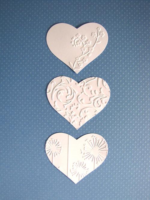 Srdce větší - 3 ks - barva podle přání