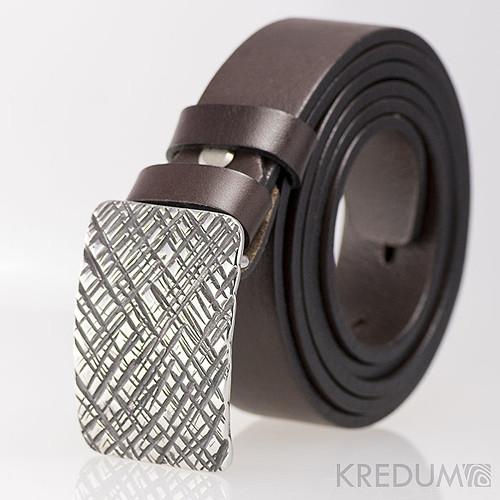 Kovaná nerez spona kožený pásek 3cm- Mistr 3X
