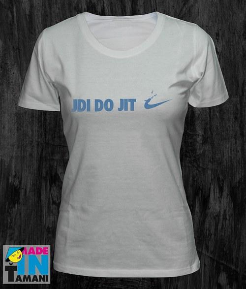 Dámské bílé tričko Jdi dojit 02