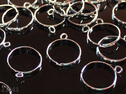 21041 Prsten. základ s očkem PLATINA, á 1ks