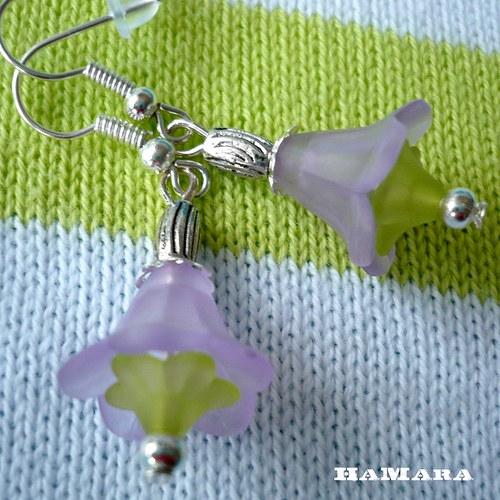 mini zvonečky fialkové
