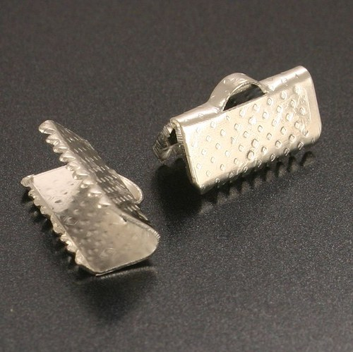 Koncovka krimpovací stříbrná 16mm 2ks