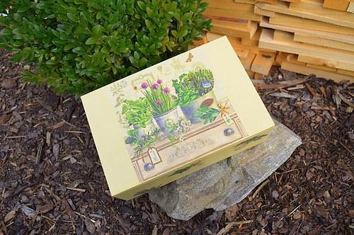 Krabička na čaj - 8 přihrádek - bylinky