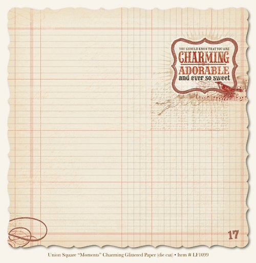 Scrapbooking papír US Moments Charming