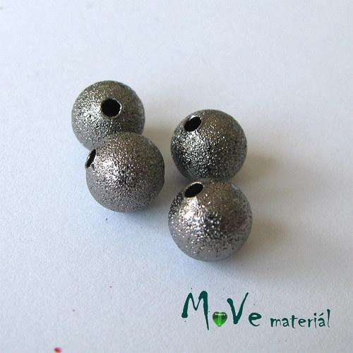 Korálek kovový zvrásněný Ø 8mm, antracit, 4ks