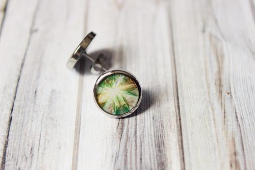 Zlato a zeleň - Pecky, křišťálová pryskyřice