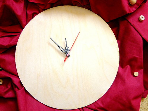 HODINY 25 cm - polotovar i s hodinovým strojkem