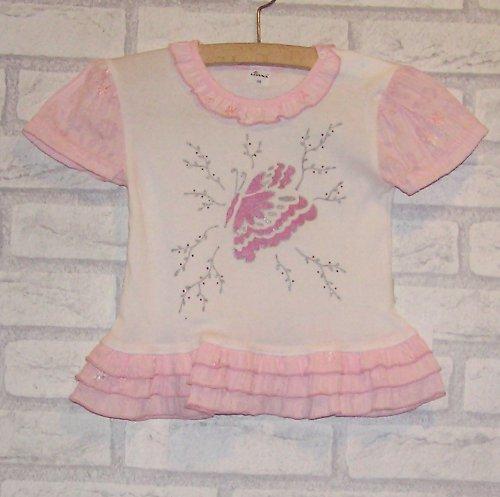 Baby tričko s volánky