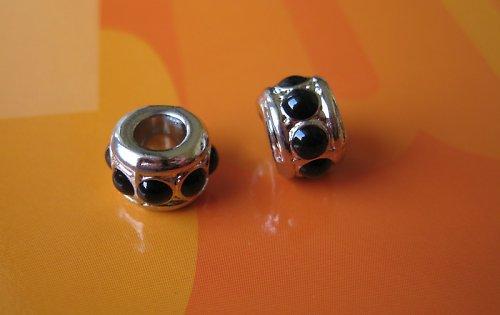 Komponent kroužek-černý puntík,cena za 2ks