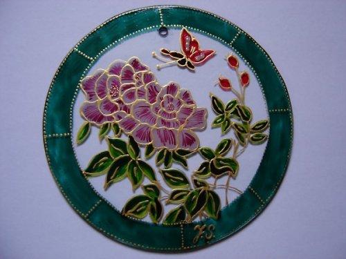 Ornament Růže a motýl