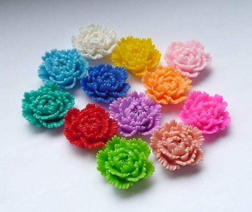 Kabošon květ 2ks- žtutá č.2