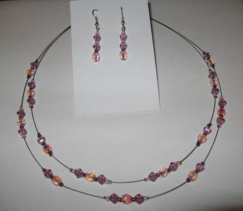Souprava fialovo-růžová