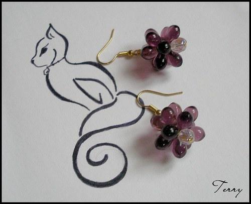 SLEVA - Květy ze slz - fialové