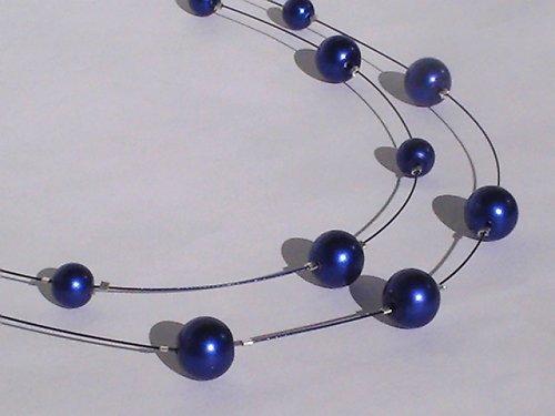 SLEVA- Náhrdelník z modrých perel