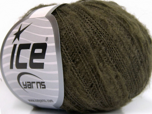 Kid Mohair Flamme Khaki 30g Ice Yarns