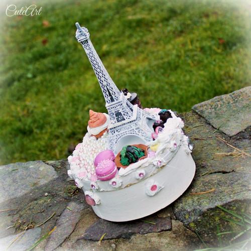 Paris - krabica na koláčiky/šperky