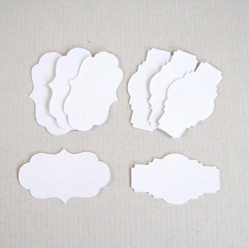 Set osmi štítků k dotvoření - Výseky z BS