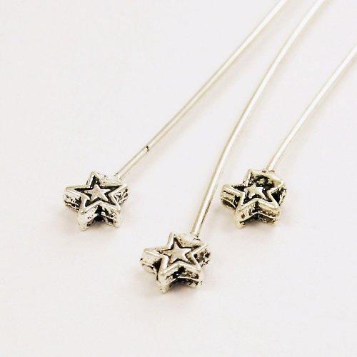 Ozdobné ketlovací nýty -hvězdičky, 2 ks N04
