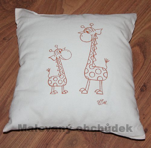 Polštář-žirafy