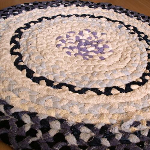 kobereček - hadrák - spletený -  kulatý - modrý