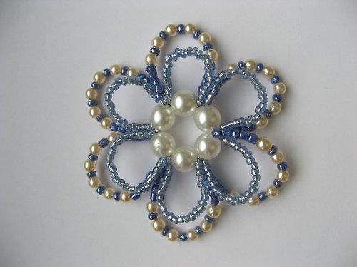 Vánoční ozdoba - kytka modrá velká