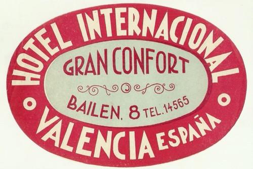 Hotelové nálepky Hotel Valencia