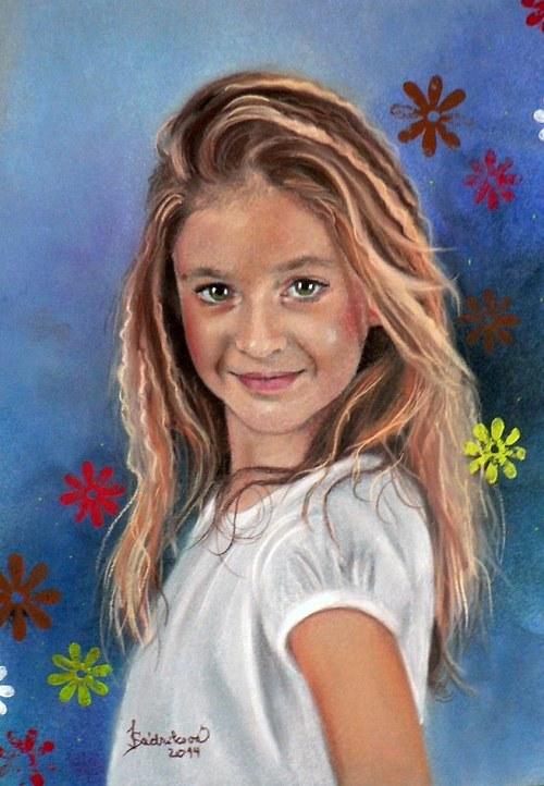 Portrét suchým pastelem