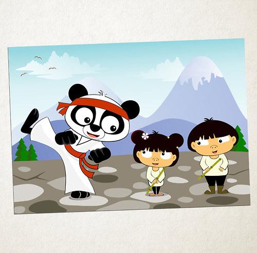 Ilustrace – Vášeň pro karate :-)